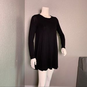 Forever 21 Black Swing Tunic Top S
